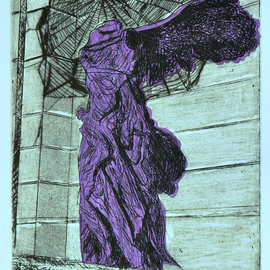 Jerry  Di Falco, , , Original Printmaking Etching, size_width{web_of_violet_paris-1553279976.jpg} X 16 inches