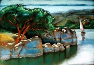 Mohamed Ghazala; Aswan Afternoon2, 2004, Original Pastel, 70 x 50 cm.