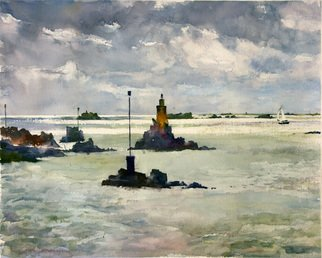 Gilles Durand; Light On The Sea Brehat I..., 2007, Original Watercolor, 18 x 14 inches. Artwork description: 241   Watercolor Painting on Fabriano Artistico paper...