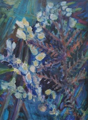 Gillian Bedford; Coral Embrace, 2011, Original Painting Oil, 18 x 24 inches. Artwork description: 241  coral sea ocean beach water plant life flower embrace  ...