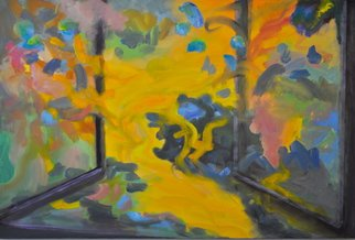 Gillian Bedford; Transitions No 1, 2015, Original Painting Oil, 36 x 24 inches. Artwork description: 241  oil painting window transition color colorist ...