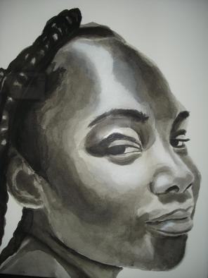Gina Shelley; Teya, 2009, Original Painting Oil, 15.5 x 20 inches. Artwork description: 241  Teya' s beautiful skin and lovely face inspired this piece, painted in Indian ink. ...