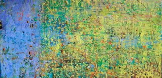 Ginny Krueger; Forsizia, 2011, Original Painting Encaustic, 20 x 40 inches. Artwork description: 241      Encaustic on Wood Panel on Wood Frame;                 ...