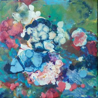 Ginny Krueger; Hydrangea, 2011, Original Painting Encaustic, 12 x 12 inches. Artwork description: 241  Encaustic on Wood Panel; Steel Angle Iron Frame Included             ...