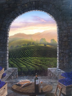 Steven Power; FIRST FRUIT, 2015, Original Giclee Reproduction, 27 x 36 inches. Artwork description: 241 WINERY...