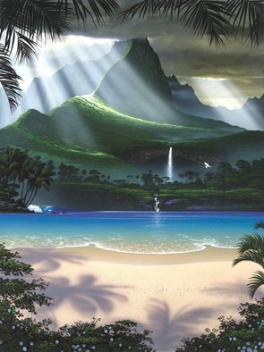 Steven Power; HEAVENLY LGHT, 2009, Original Giclee Reproduction, 27 x 36 inches. Artwork description: 241  SURF FANTASY ...