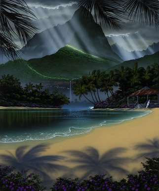 Steven Power; MY PLACE, 2002, Original Printmaking Giclee, 27 x 36 inches. Artwork description: 241 TROPICAL FANTASYSURF INSPRED...