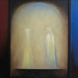 Artist: George Kofas, title: Angel at the Altar, 2011, Original Painting Oil