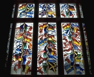 John Clark; Lockerbie Memorial, 1991, Original Glass Stained, 12 x 8 feet. Artwork description: 241 This work was commissioned to act as a memorial to those killed in what has become known as the Lockerbie Disaster...