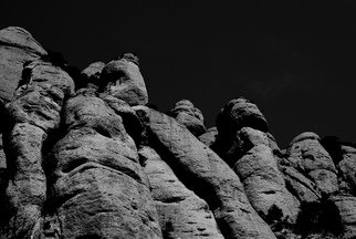 Glen Sweeney; Giants Bw, 2013, Original Photography Black and White, 80 x 53 cm. Artwork description: 241 Stone giants, waiting, watching, eroded only by time. A rock face in Spain, look carefully and you will see the giants hiding in plain sight. ...