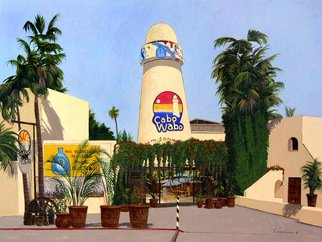 Chris Macclure; Cabo Wabo Cantina, 2006, Original Painting Acrylic, 40 x 30 inches. Artwork description: 241  The famous Cabo Wabo Cantina in Cabo San Lucas owned by the Red Rocker Sammy Hagar ...