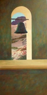 Chris Macclure; Mission Bell, 2011, Original Painting Acrylic, 24 x 48 inches. Artwork description: 241  From the Baja California mission series ...