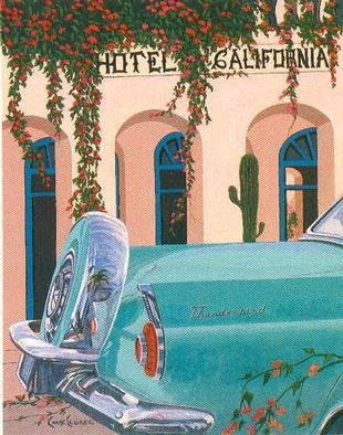 Chris Macclure; Hotel California, 2001, Original Printmaking Other, 30 x 40 inches. Artwork description: 241 This a Giclee fine art reproduction on canvas. There are only 50 giclee' s of this size made. The original was done as one of