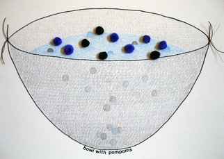 Gordana Olujic Dosic, Bowl with pompoms, 2010, Original Mixed Media, size_width{bowl_with_pompoms-1298159784.jpg} X 12 inches