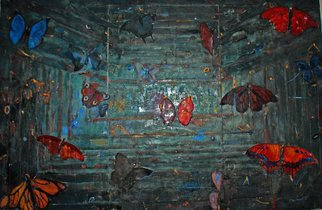 Goran Petmil; BUTTERFLIES, 2007, Original Mixed Media, 12 x 8 feet. Artwork description: 241  BUTTERFLIES, MIXED MEDIA ON PLYWOOD  ...