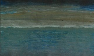 Goran Petmil; VERY BLUE, 2013, Original Painting Oil, 11 x 7 inches. Artwork description: 241   THE BEACH, PAINTING OF THE BEACH, BRIGHT STORMY DAY ON THE OCEAN. THE HORIZON, OIL ON PLYWOOD ...