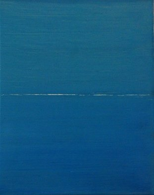 Goran Petmil; WHITE LINE, 2013, Original Painting Oil, 11 x 14 inches. Artwork description: 241  THE BEACH, PAINTING OF THE BEACH, THE OCEN AND THE SKY ARE THE SAME COLOR. THE HORIZON, OIL ON CANVAS ...