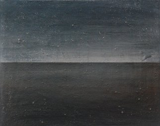 Goran Petmil; WINTER 6AM, 2013, Original Painting Oil, 20 x 16 inches. Artwork description: 241  THE BEACH, PAINTING OF THE BEACH IN THE WINTER THE OCEN AND THE SKY ARE THE SAME COLOR. THE HORIZON, OIL ON CANVAS  ...
