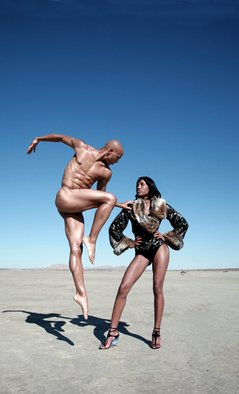 Gregory Prescott; Desert Waltz, 2007, Original Photography Color, 11 x 17 inches. Artwork description: 241  Figurative fashion shoot at El Mirage Desert giclee print on Epson archival paper...