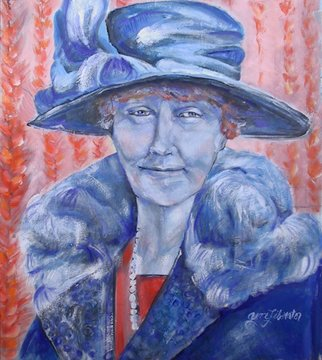 Grace Liberator; Aunt Minnie 1920s Blue, 2003, Original Painting Oil, 24 x 27 inches. Artwork description: 241  Aunt Minnie Always Wore Blue to Show off Her EyesI have a great great Aunt Minner - Do You? ...