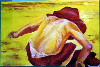 Grace Liberator; Cool Guy, 2003, Original Painting Oil, 30 x 20 inches. Artwork description: 241 My nephew on the beaches of Outerbanks, NC on a very hot day!...