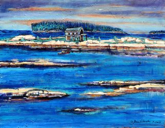 Grace Liberator; Home For The Storm  Seascape, 2008, Original Painting Acrylic, 28 x 22 inches. Artwork description: 241  Coast of Maine ...