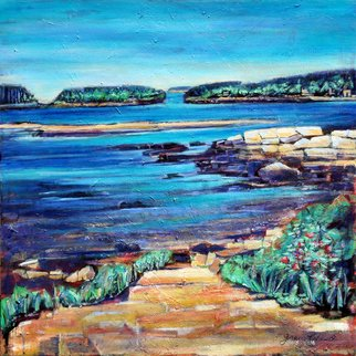 Grace Liberator; Sprucehead Bay Maine , 2008, Original Painting Acrylic, 30 x 30 inches.