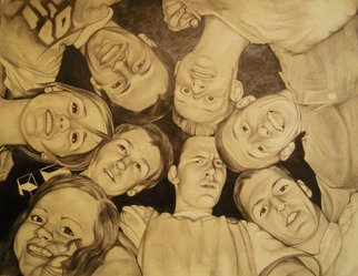 Grace Ryser; Circle Of Friends, 2010, Original Drawing Pencil, 30 x 26 inches.