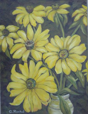 Ghassan Rached; Black Eyed Susan, 2005, Original Painting Oil, 12 x 16 inches. Artwork description: 241  Oil Painting by Ghassan Rached on medium grain canvas panel. ...