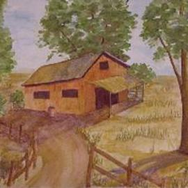 Ghassan Rached, , , Original Watercolor, size_width{Deserted_Barn-1008354635.jpg} X 40 cm