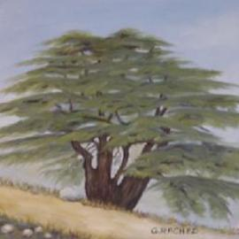 Ghassan Rached, , , Original Painting Oil, size_width{Millenary_Cedar_Tree_1-993241631.jpg} X 10 inches