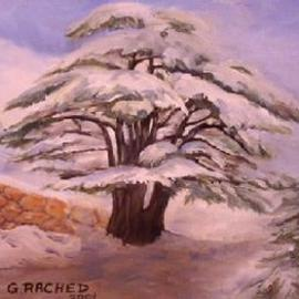 Ghassan Rached, , , Original Painting Oil, size_width{Millenary_Cedar_Tree_2-993241379.jpg} X 10 inches