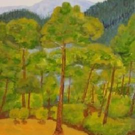 Ghassan Rached, , , Original Watercolor, size_width{Pine_Trees-983555591.jpg} X 40 mm