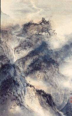Grace Auyeung; CosmicVision2, 2001, Original Painting Other, 12 x 19 inches. Artwork description: 241 This painting was done with Chinese ink and color on paper. The landscape reflects an image of the Mind rather than the physical reality. ...