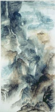 Grace Auyeung; Make Believe, 2001, Original Painting Other, 26 x 53 inches. Artwork description: 241 This painting was done with Chinese ink and color on paper.  It is a dreamscape and the technique is more than one step from the traditional. ...