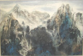 Grace Auyeung; Mindscape , 2005, Original Painting Ink, 22 x 17 inches.