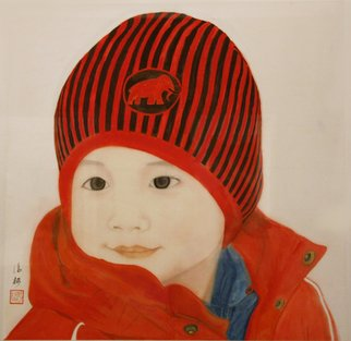 Grace Auyeung; Tadpole Years, 2011, Original Painting Other, 61 x 72 cm. Artwork description: 241 PORTRAIT OF A 4- YEAR- OLD WITH ANGELIC INNOCENCE, CHINESE INK, COLOUR AND WATER ON XUAN PAPER, LABORIOUS STYLE...