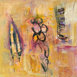 Marcia Freedman; Dwell, 2005, Original Painting Oil, 48 x 48 inches. Artwork description: 241  Dwell is an oil painting on canvas that was informed by organic forms found within the body. ...