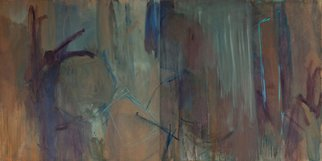 Marcia Freedman; JT10, 2010, Original Painting Oil, 96 x 48 inches. Artwork description: 241  JT_ 10 is an abstract oil painting on canvas that references landscape and the figure.              ...