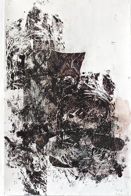 Marcia Freedman; JT  2, 2009, Original Printmaking, 29 x 41 inches. Artwork description: 241   JT_ 2 is an abstract multi- media drawing on paper whose source was influenced by rock formations in the landscape.               ...