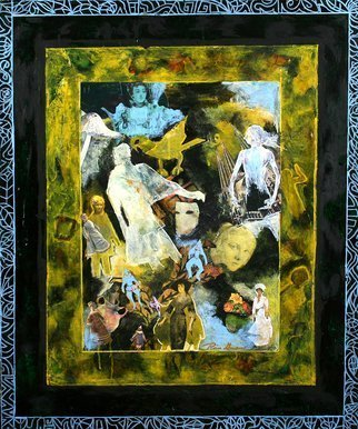 Ronnie Greenspan; Ether, 2005, Original Mixed Media, 30 x 36 inches. Artwork description: 241 Collage featuring mysterious, ghostlike figures and Victorian dolls. Detailed- orientedcollage, old- fashioned, ghosts, ethereal...