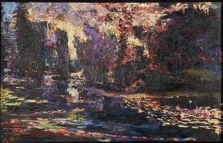 James Gavin; River Landscape, 2005, Original Painting Oil, 36 x 24 inches.
