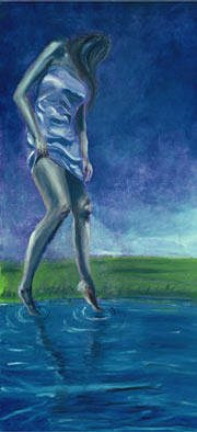 Gregory Maddox; Reflection, 2002, Original Painting Oil, 2 x 5 feet. Artwork description: 241 oil on masonite...