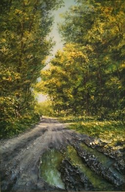 Ivan Grozdanovski; Forest Path In Summer, 2013, Original Painting Acrylic, 50 x 70 cm. Artwork description: 241           landscape  landscape                       ...