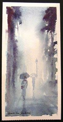 Ivan Grozdanovski; Setaci, 2012, Original Watercolor, 30 x 12 cm. Artwork description: 241      Setaci      ...