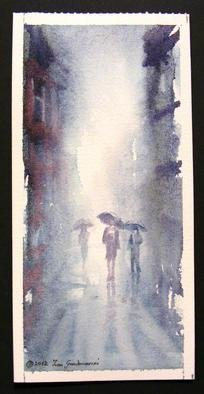 Ivan Grozdanovski; Setaci , 2012, Original Watercolor, 30 x 12 cm. Artwork description: 241       Setaci       ...
