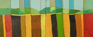 Habib Ayat; Abstract Landscape, 2007, Original Mixed Media, 60 x 24 inches.