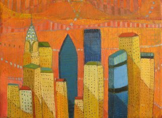 Habib Ayat; Cityscape Nyc, 2008, Original Painting Oil,   inches.