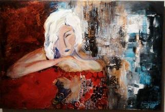 Hajni Yosifov; The Dreamer, 2015, Original Painting Acrylic, 30 x 40 inches.