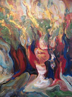 Hajni Yosifov; The Tree of LIfe, 2008, Original Painting Acrylic, 24 x 30 inches. Artwork description: 241   The trees are representing life, the branches my aspirations.   ...